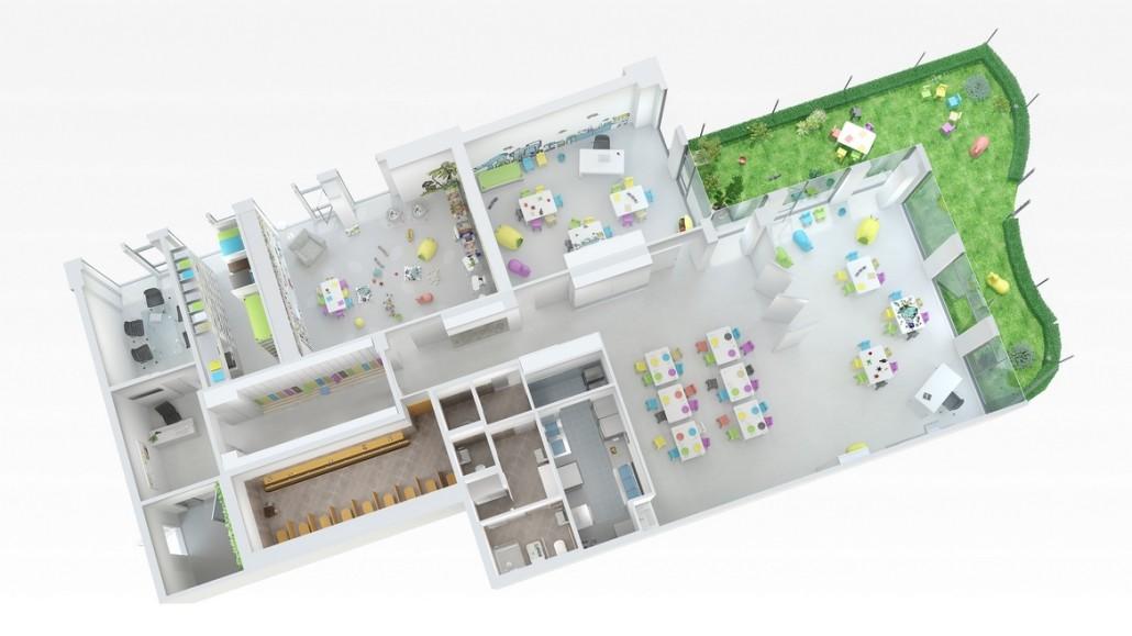 3D vizualizace interiéru 1